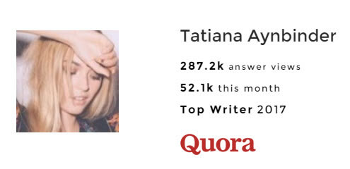 Tatiana Aynbinder Quora